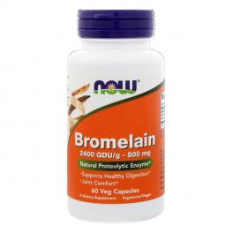 NOW Бромелаин 500 мг 60 капс