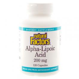 Natural Factors Альфа-липоевая кислота 200 мг 60 капс
